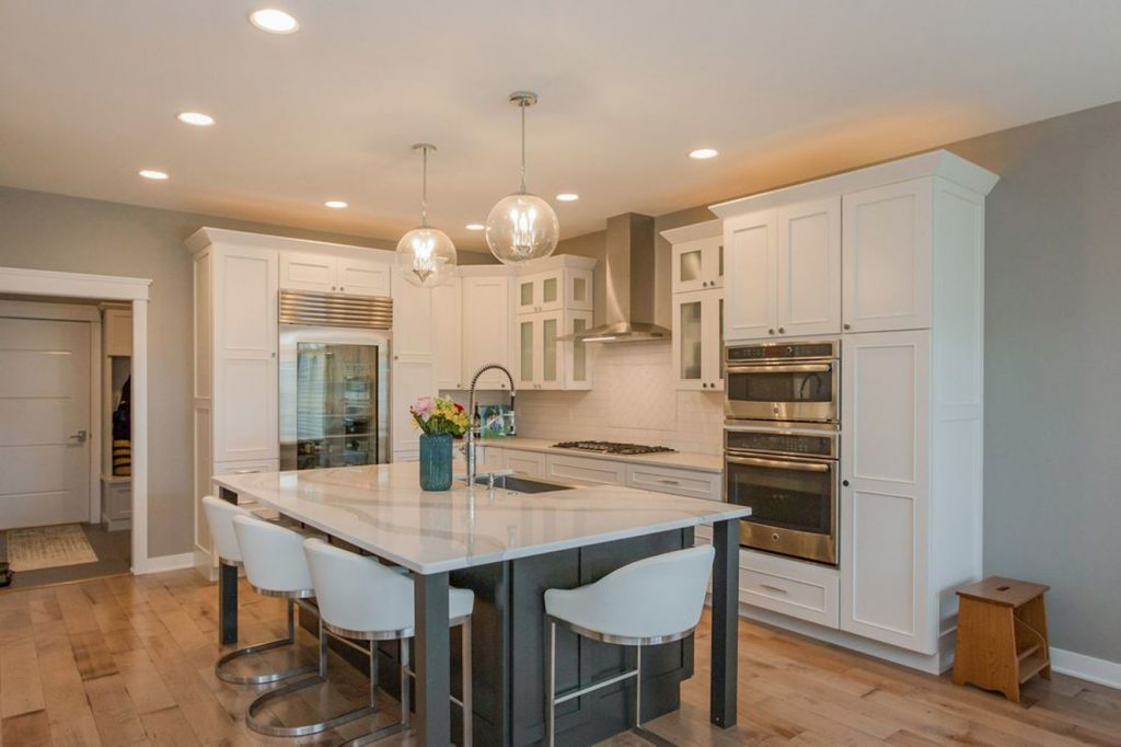 SGA Construction modern kitchen interior white
